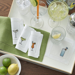 Sferra Bevande Embroidered Cocktail Napkins