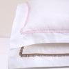 BOVI Bitsy Dots Luxury Bedding - White/Light Pink