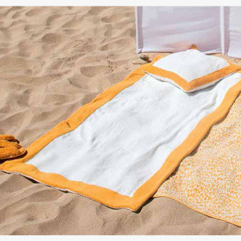 Abyss Portofino Beach Towels And Pillows Safron 850