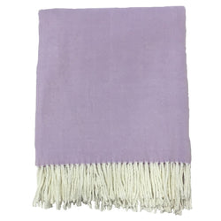 Alashan Cotton / Acrylic Adirondack Herringbone Throw - Wisteria