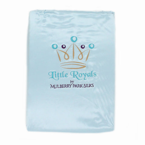 Little Royals Childrens Charmeuse Silk Twin Sheet Set - Bedtime Blue
