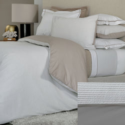 BOVI Seersucker Bedding - Grey