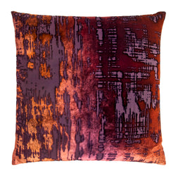 Kevin O'Brien Studio Brushstroke Silk Velvet Decorative Pillow - Wildberry
