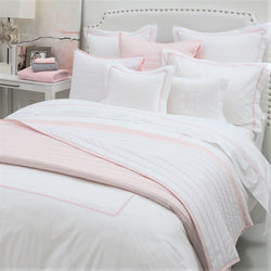 BOVI Bitsy Dots Bedding - White/Light Pink