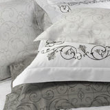 Dea Broccato Embroidered Bedding - White/Ivory