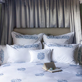 Peter Reed Chain Stitch Bedding - Blue/Blue