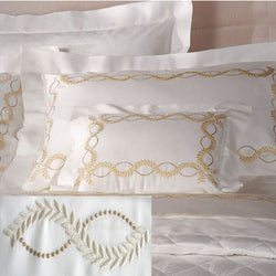Dea Diana Embroidered Bedding - Ivory/Sand