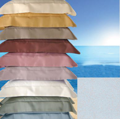 Dea Raso Sateen Plain Hem Bedding - Ice