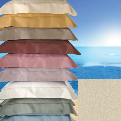 Dea Raso Sateen Plain Hem Bedding - Sand