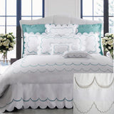 Dea Campanella Embroidered Bedding - Ivory/Light Grey