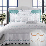 Dea Campanella Embroidered Bedding - Ivory/Tangerine