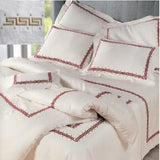 Dea Etruria Embroidered Bedding - Ivory/Mocha