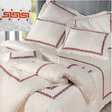 Dea Etruria Embroidered Bedding - Ivory/Orange