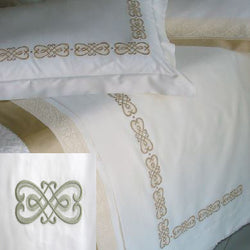 Dea Gianna Embroidered Bedding - Ivory/Sage