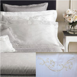 Dea Isotta Embroidered Bedding - White/Ivory
