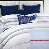 Dea Lajatico Embroidered Bedding - White/Fuxia