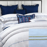 Dea Lajatico Embroidered Bedding - White/Yellow
