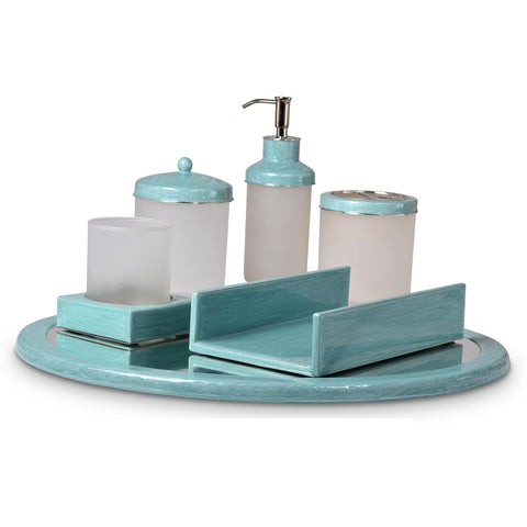Mike and Ally Essentials Basic Enamel Bath Accessories