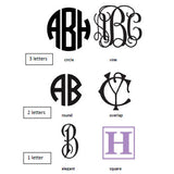 Mike and Ally Eos Monogrammed Collection - Silver Leaf