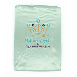 Little Royals Childrens Charmeuse Silk Twin Sheet Set - Goodnight Green