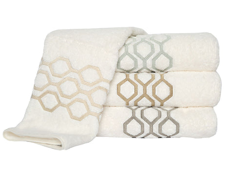 Anali Honeycomb Roma Bath Towel
