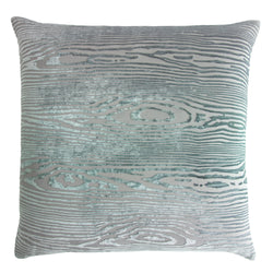 Kevin O'Brien Studio Woodgrain Silk Velvet Decorative Pillow - Jade