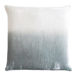 Kevin O'Brien Studio Dip Dye Silk Velvet Decorative Pillow - Sage/White