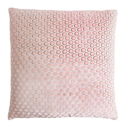 Kevin O'Brien Studio Dots Silk Velvet Decorative Pillow - Blush
