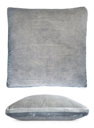 Kevin O'Brien Studio Double Tuxedo Silk Velvet Decorative Pillow - Seaglass