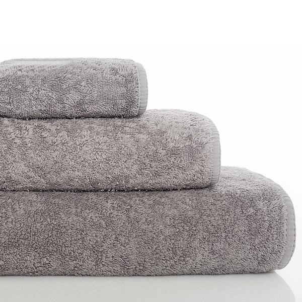 Graccioza Long Double Loop Bath Towels Anthracite