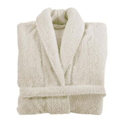 Graccioza Long Double Loop Bath Robe - Natural