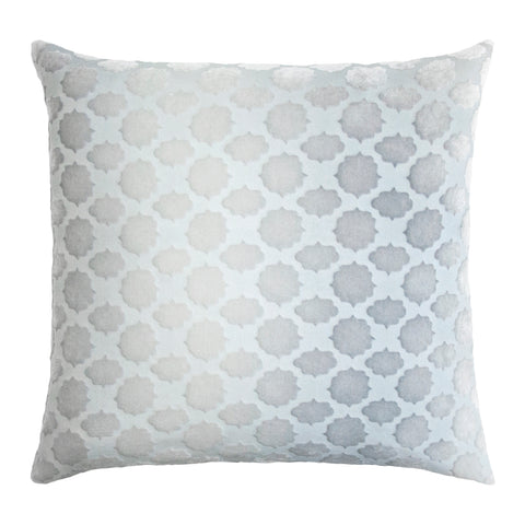 Kevin O'Brien Studio Mod Fretwork Velvet Decorative Pillow - Mineral