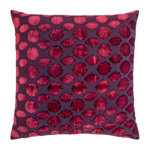 Kevin O'Brien Studio Mod Fretwork Velvet Decorative Pillow - Raspberry