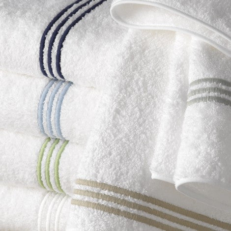 Matouk Bel Tempo Bath Towels - White
