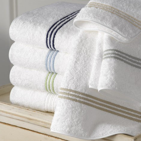 Matouk Bel Tempo Bath Towels - Almond