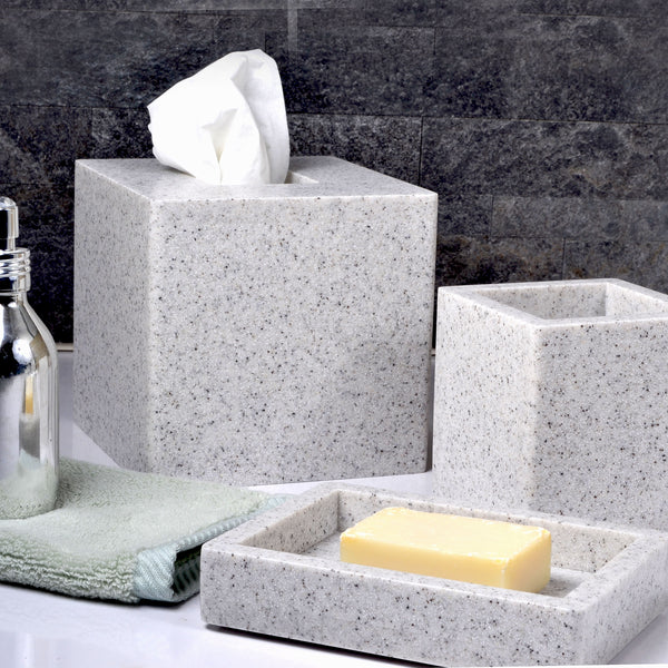 Mike And Ally Contours Corian Bath Accessories Stone