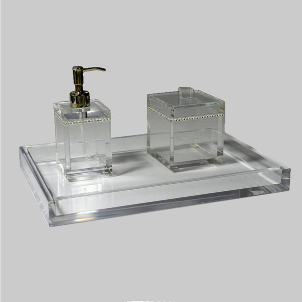 Mike And Ally Clear Ice Lucite Bath Accessories Flandb Com