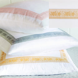 Nancy Koltes Eleanor's Ribbon Bedding - Buttercup/White