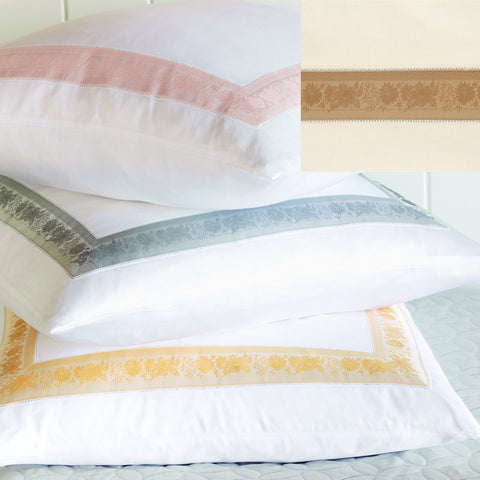 Nancy Koltes Eleanor's Ribbon Bedding - Gold/Ivory