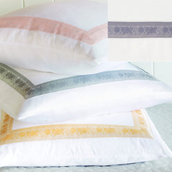 Nancy Koltes Eleanor's Ribbon Bedding - Heather/White