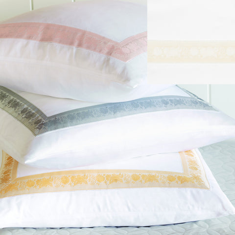 Nancy Koltes Eleanor's Ribbon Bedding - Opal/White