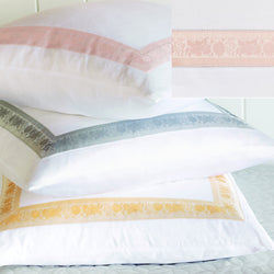 Nancy Koltes Eleanor's Ribbon Bedding - Petal/White