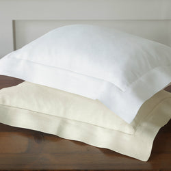 Nancy Koltes Bruges Italian Linen Crepe Bedding - White