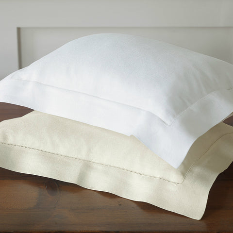 Nancy Koltes Bruges Italian Linen Crepe Bedding - Ivory