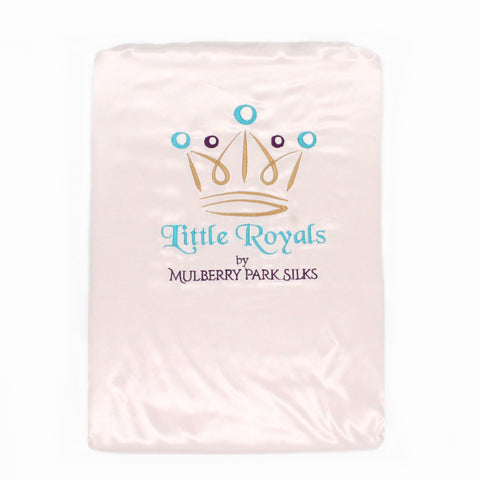 Little Royals Childrens Charmeuse Silk Twin Sheet Set - Lullaby Pink
