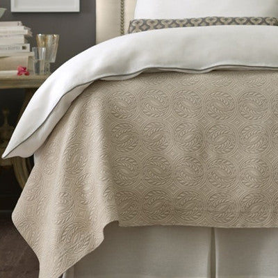 Great Peacock Alley Vienna Matelasse Bedding   Ivory ...