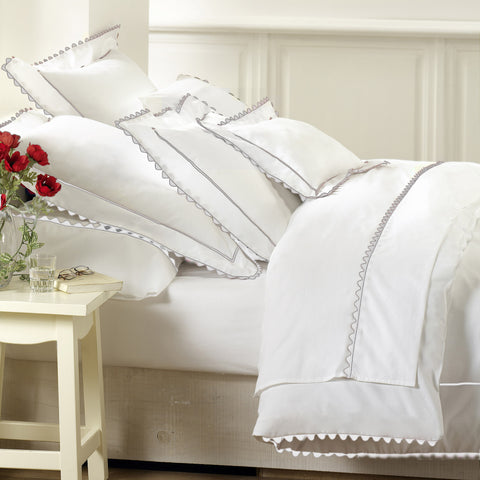 Peter Reed Waves Bedding - White