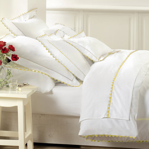Peter Reed Waves Bedding - Yellow
