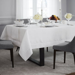 Sferra Reece Table Linens - Silver/White