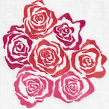 Anali Rose Linen Guest Towels - Red